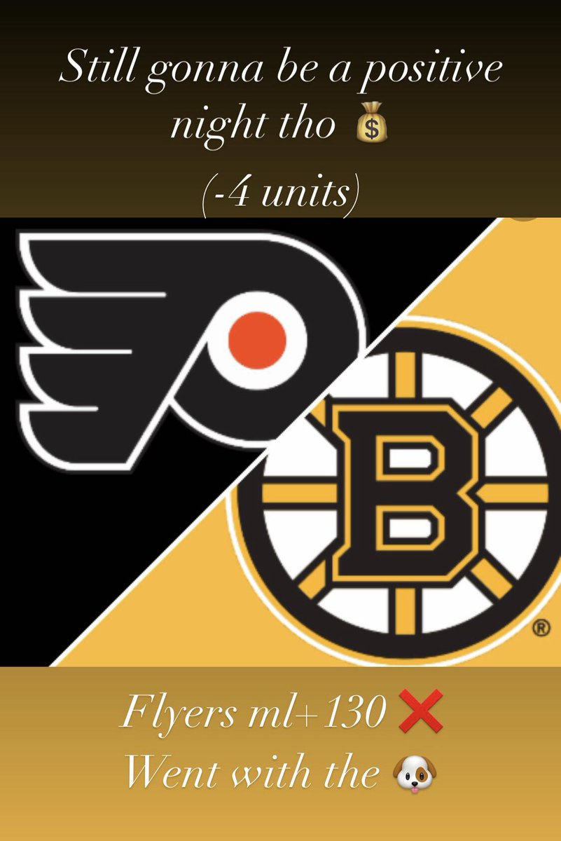 🔥🚨🔥🚨🔥🚨🔥🚨🔥🚨🔥🚨🔥Took the flyers as a dog as a bounce back game , all good tho ! Yes we post losses , still gonna be a positive night tho! Hit me up ! Let's get that dub 🐐#GamblingTwitter #winning #GOAT #nhlpicks #NHL