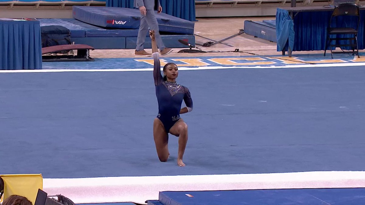 From Beyoncé to Kendrick Lamar, Nia Dennis' floor routine is absolute 🔥 @espnW   (via @uclagymnastics)