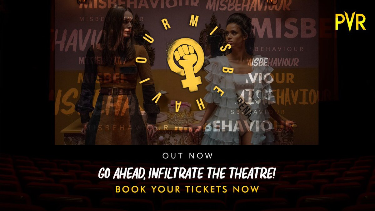 What are you waiting for? Infiltrate the theatre, people! #Misbehaviour, out now at #PVR.  #BackAtPVR