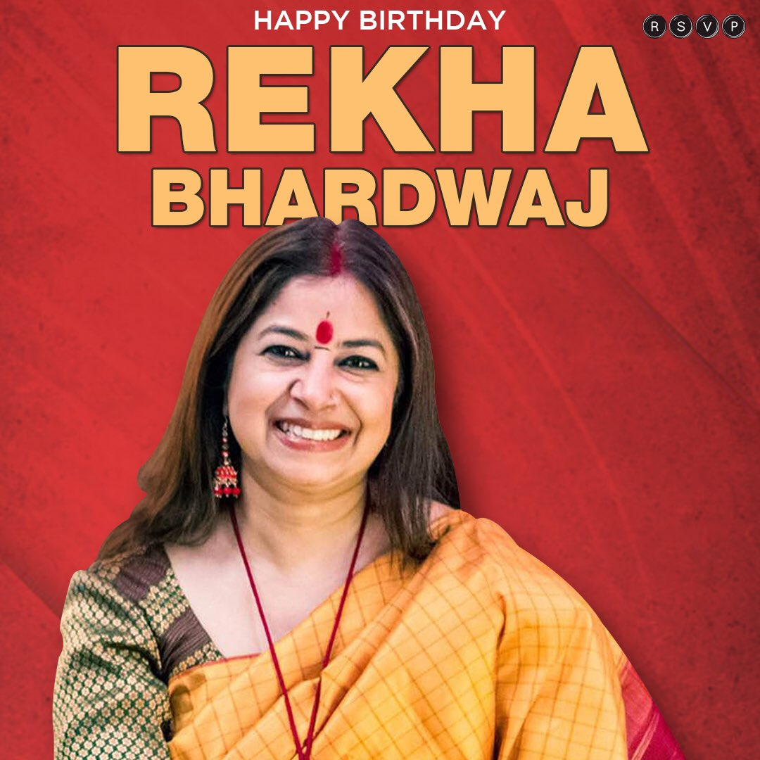 To music, melodies & you! @rekha_bhardwaj   #HappyBirthdayRekhaBhardwaj