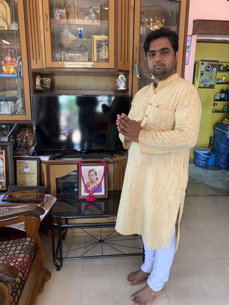 Paid my respects to Late Vijaya Shripad Naik, Wife of Honourable Union Minister Shripad Naik Ji at his residence in Goa today. https://t.co/RJ4lCtoRZA