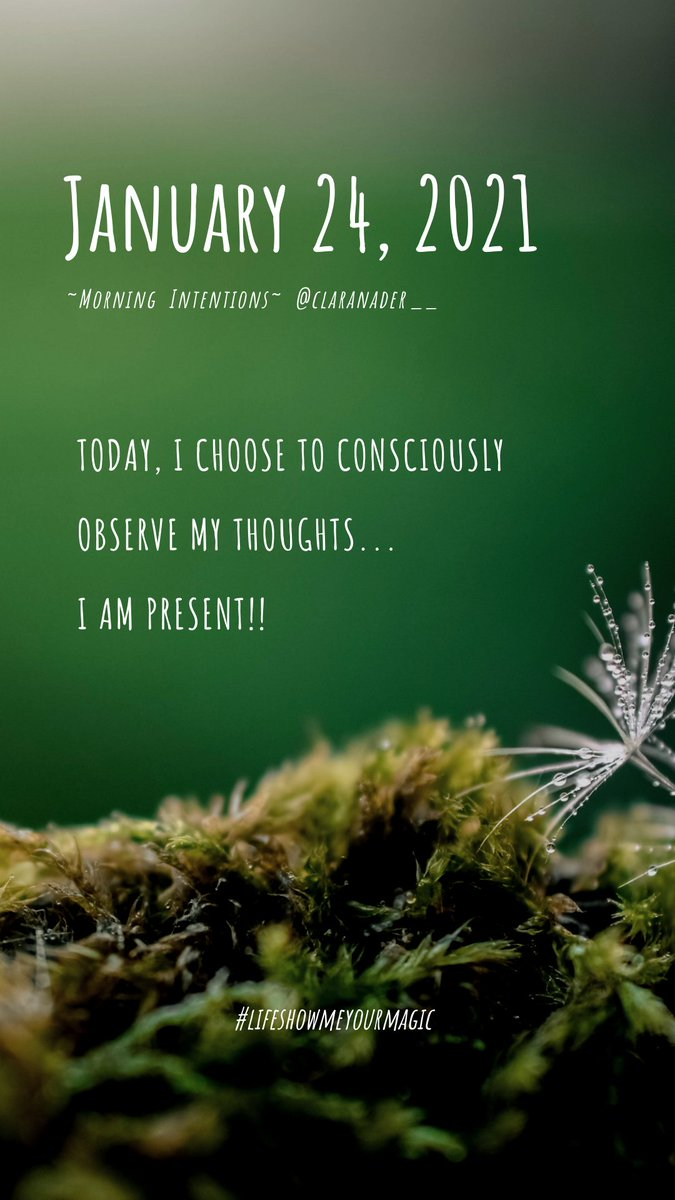 Today, I #choose to #consciously observe my #thoughts... I am #present!! . #lifeshowmeyourmagic #morningintentions #clarity #healing #journey #selflove #gratitude #happiness #love #life #spirituality #empowerment #motivation #inspiration #reflection #coach #coaching