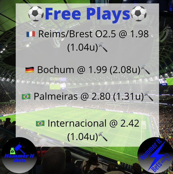 🚨Remaining free picks🚨  #hammerit #GamblingTwitter #bettingtwitter #freeplays #SportsPicks #bettingpicks #BALvsBUF #TBvsGB #soccer #SundayFunday