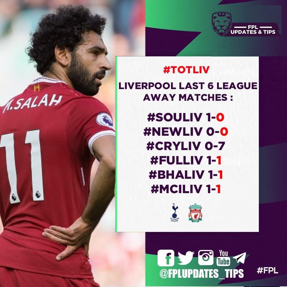 Liverpool Last 6 League Away Matches : #SOULIV 1-0 #NEWLIV 0-0 #CRYLIV 0-7 #FULLIV 1-1 #BHALIV 1-1 #MCILIV 1-1 (1/6): 2+ goals scored