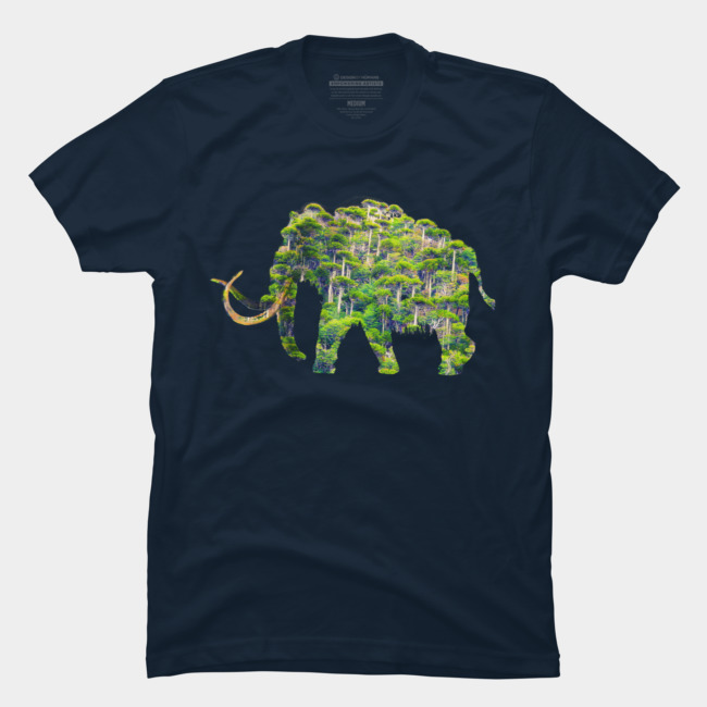 Mammoth Forest @designbyhumans by @Boby_Berto  #elephant #mammoth #animal #wild #forest #jungle #nature #tshirt #apparel #clothing