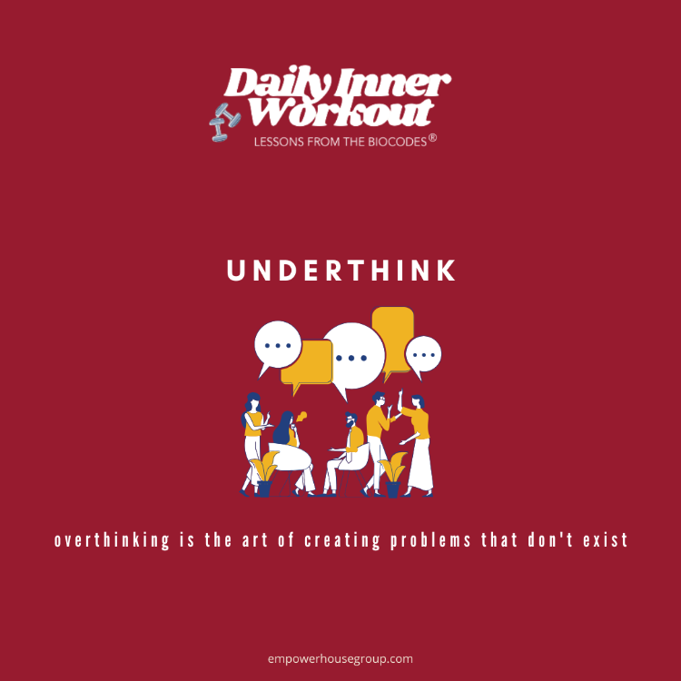 #DailyInnerWorkout Ever notice how easy it is to ruminate on unproductive #thoughts? The truth is clarity comes from a calm mind. Ready to underthink? Practice... https://t.co/dgoqQ9KYjb  #TheBioCodeSystem #PersonalGrowth #Leadership #SundayMotivation #SundayThoughts #SundayVibes https://t.co/3VQRblyz5C