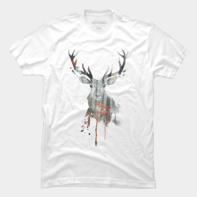 Deer Forest @designbyhumans by @Boby_Berto  #deer #forest #jungle #tree #doubleexposure #animal #wild #nature #tshirt #tshirts #clothing #apparel #cool