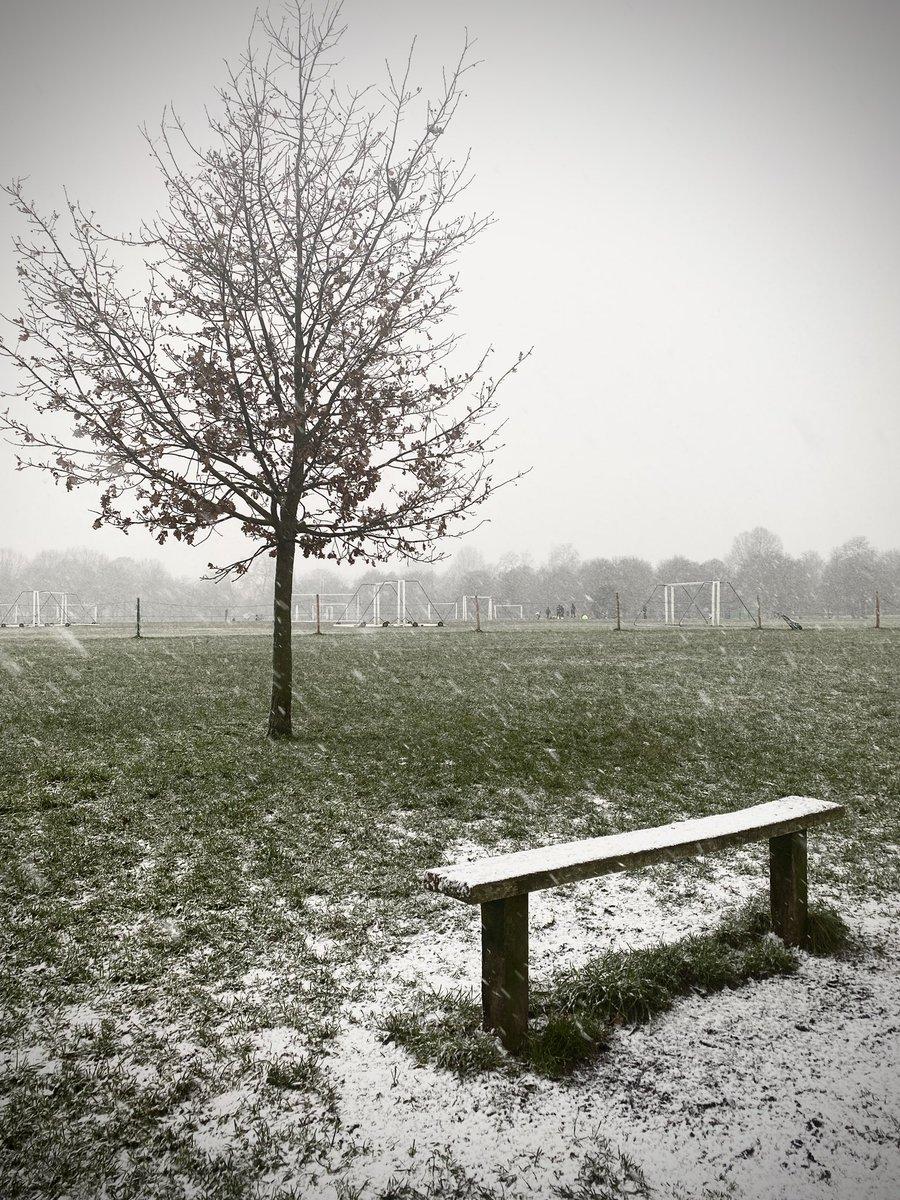 The obligatory London snowy Sunday picture! #londonsnow #sundayvibes