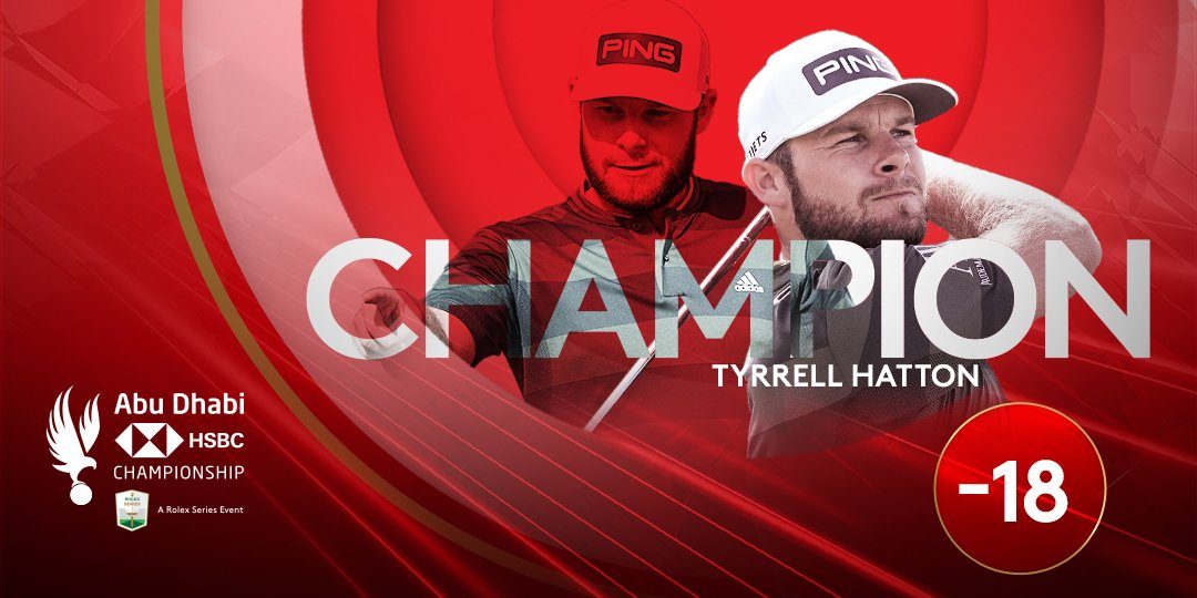 ⭐⭐⭐⭐  Tyrrell Hatton secures his fourth #RolexSeries title with victory at the #ADGolfChamps 🏆  #WitnessTheIncredible