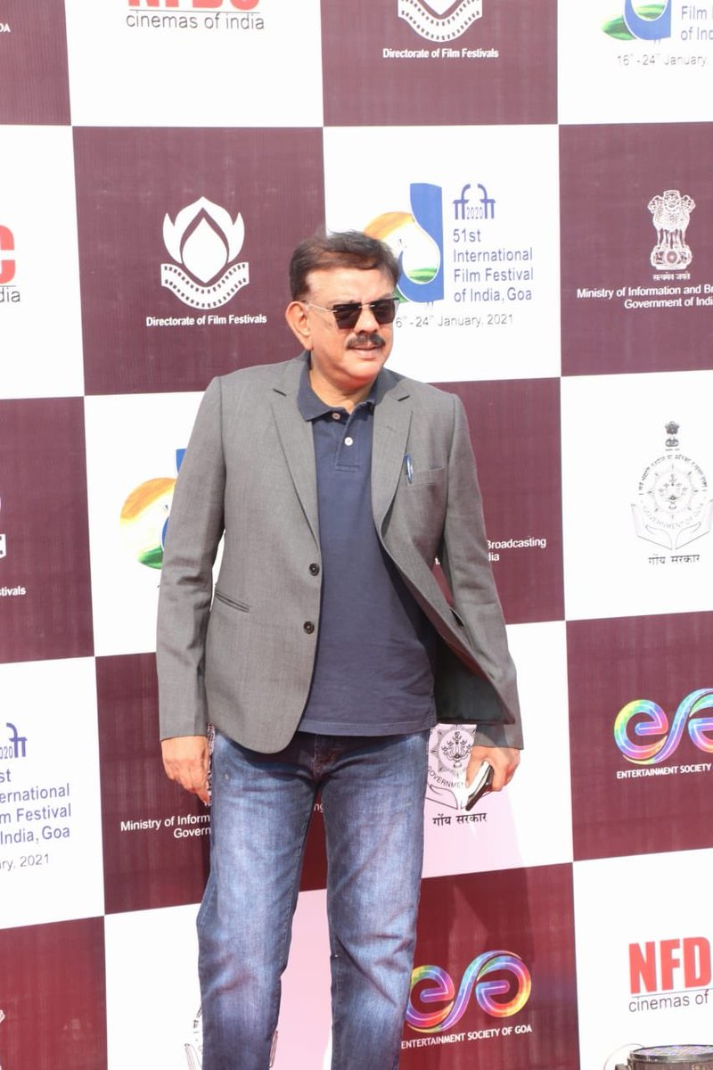 Acclaimed Director and Filmmaker Shri @priyadarshandir at the Red Carpet Of The Closing Ceremony of #IFFI51.  @satija_amit @Chatty111Prasad @PIB_India @MIB_India