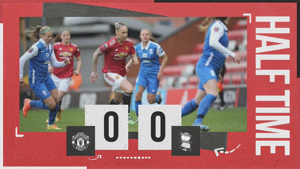⏸ Nothing to separate the sides at the break.  #MUWomen #BarclaysFAWSL