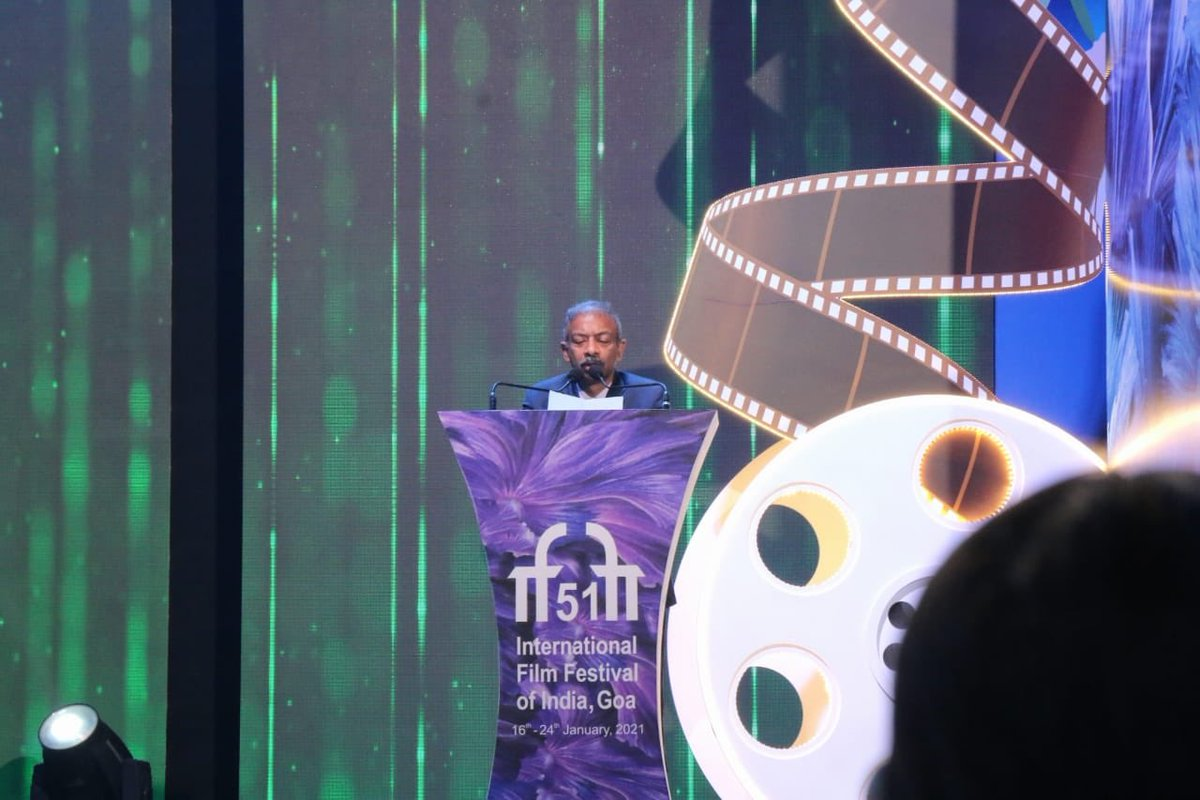 Shri Amit Khare, The Secretary of Information and Broadcasting Addresses The Audience at The Closing Ceremony of #IFFI51.  @satija_amit @Chatty111Prasad @PIB_India @MIB_India