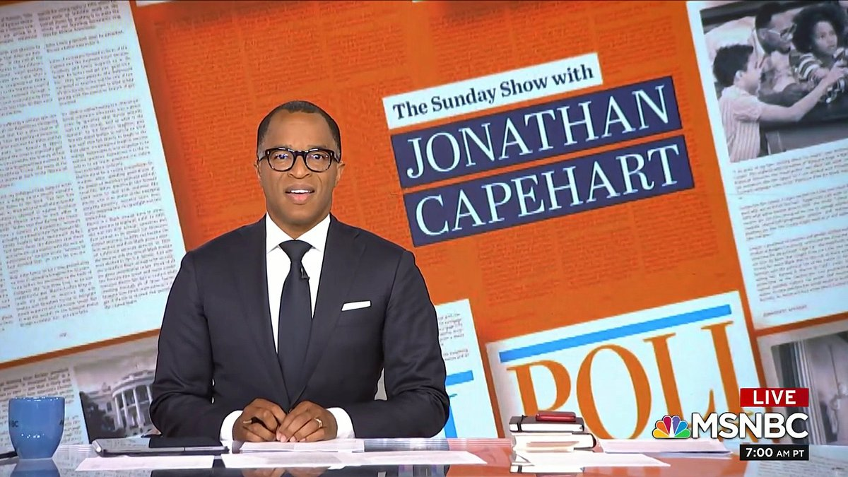 It's #Sunday, and our team is getting ready for @TheSundayShow! @CapehartJ has a great edition for you coming up. See you all this #SundayMorning at 10 AM ET on @MSNBC. RETWEET if you'll be watching!