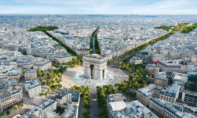 has agreed to turn Champs-Élysées into an 'extraordinary garden'. Find out more about exc....