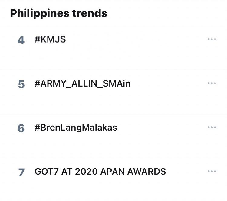 SPOTTED: #KMJS is trending at the fourth spot nationwide. Keep tweeting!