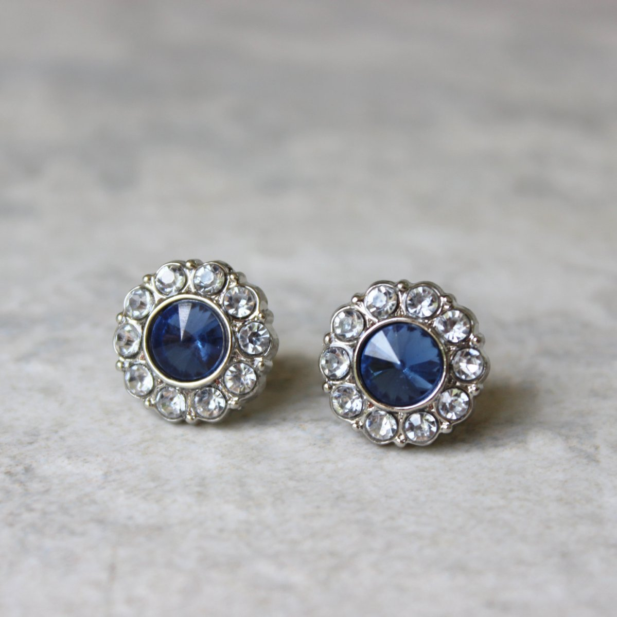 Sapphire Blue Earrings, Blue Wedding Jewelry, Blue Earrings, Crystal Earrings, Bridesmaid Earring Gift, Bridesmaid Earrings, Rhinestones  #gifts #shopsmall #smallbiz #ecommerce #style #etsyshop #shopping #etsy