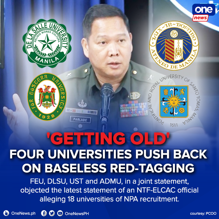 The institutions asserted that they value the Filipinos basic Constitutional rights of speech, thought, assembly, and organization. FULL STATEMENT: bit.ly/3qNQlgU