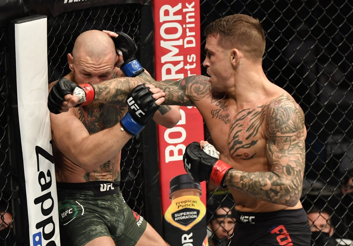 Beat Holloway twice! McGregor once!   Is @DustinPoirier the best boxer in the Octagon? 🥊  [ #UFC257 | #InAbuDhabi | @VisitAbuDhabi ]