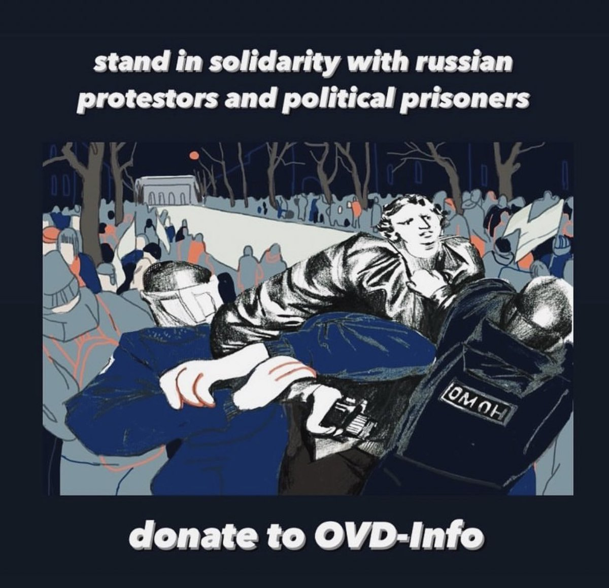 here's a link if anyone wants to donate to help the protestors in russia, note that the money sum is in russian rubles!
