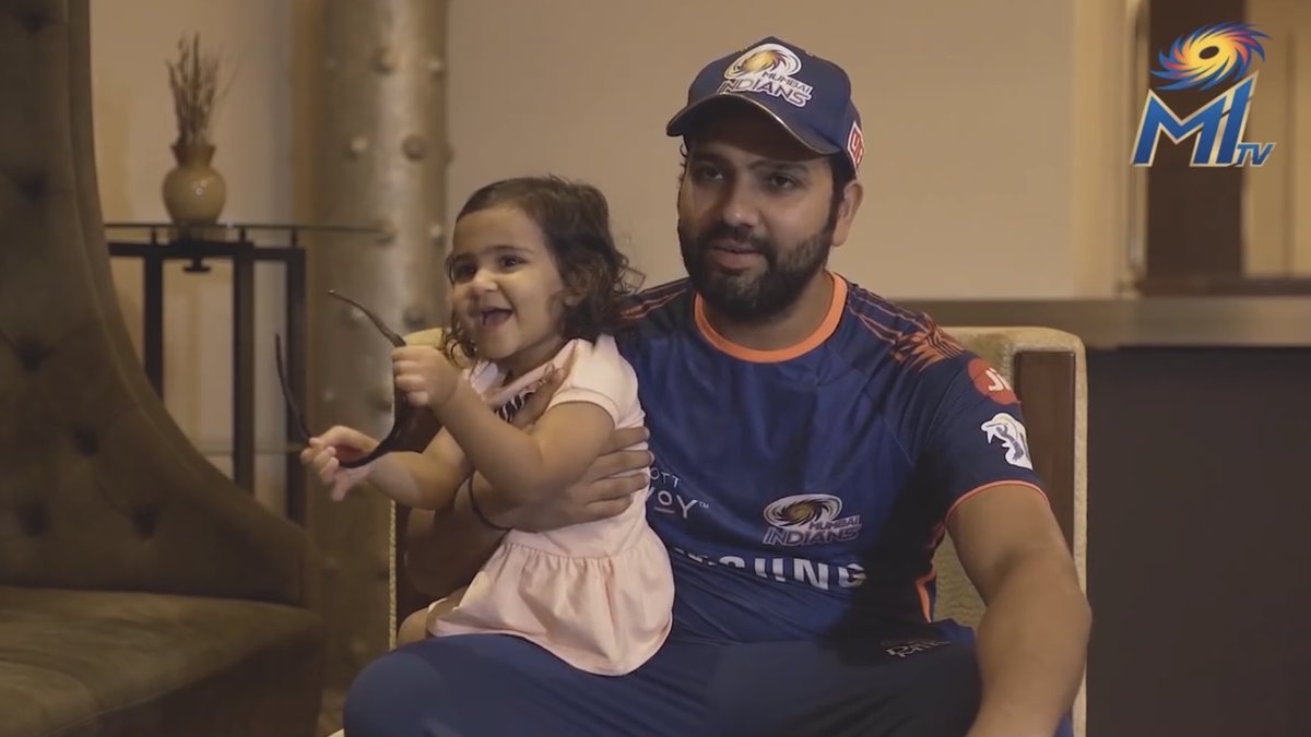 She is unique, she is joy 💙  #NationalGirlChildDay #OneFamily #MumbaiIndians @ImRo45 @MahelaJay @KieronPollard55 @dhawal_kulkarni @adu97