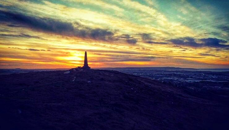Carn Brea yesterday. #cornwall #sunset #lovewhereyoulive #home
