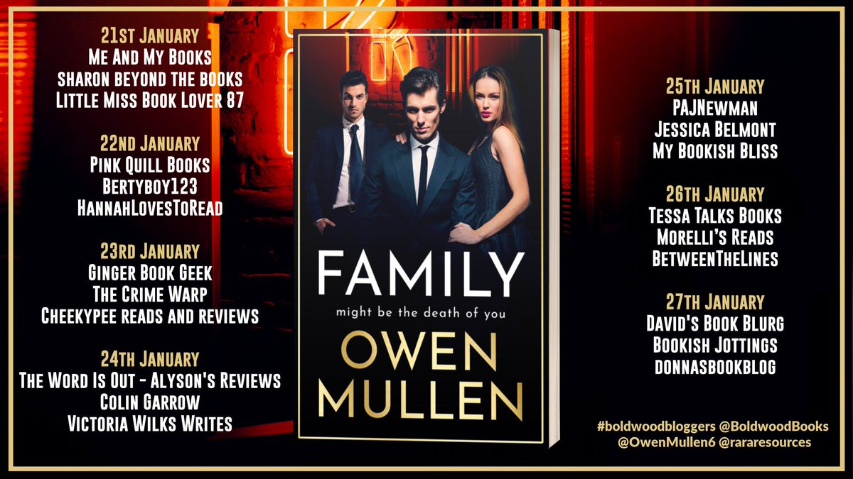 Today on the Family by @OwenMullen6 blog tour we have @alysonread, @colingarrow & @vicwilkswrites Thanks so much for taking part! 💐💛  Family is available now ➡️    @rararesources @OwenMullen6 #boldwoodbloggers