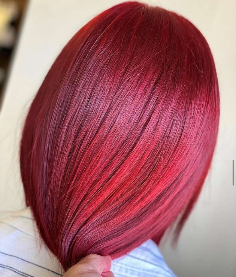 """#throwback to this absolute 🔥 look created by @darrel_of_taylors.  """"b:RED Red mixed with 6.666 with 30 vol developer as a full head of colour on previous grown out balayage hair""""  #asp #asphair #bRED #colour #aspcolour #hairdressing"""