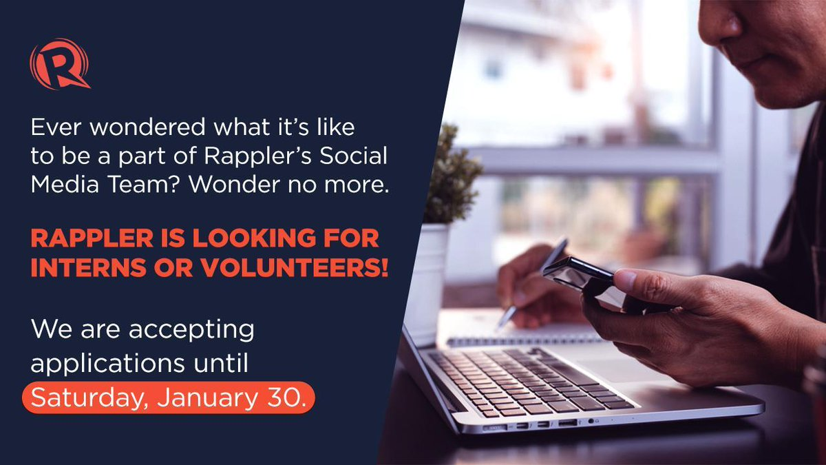It's your time to shine and be that Rappler intern! If you live and breathe anything that is social media, you might just be who we're looking for. READ:rappler.com/moveph/rappler…