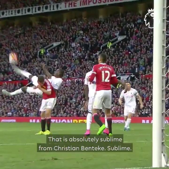 Benteke @ Old Trafford  You know the rest…   #GoalOfTheDay // @chrisbenteke