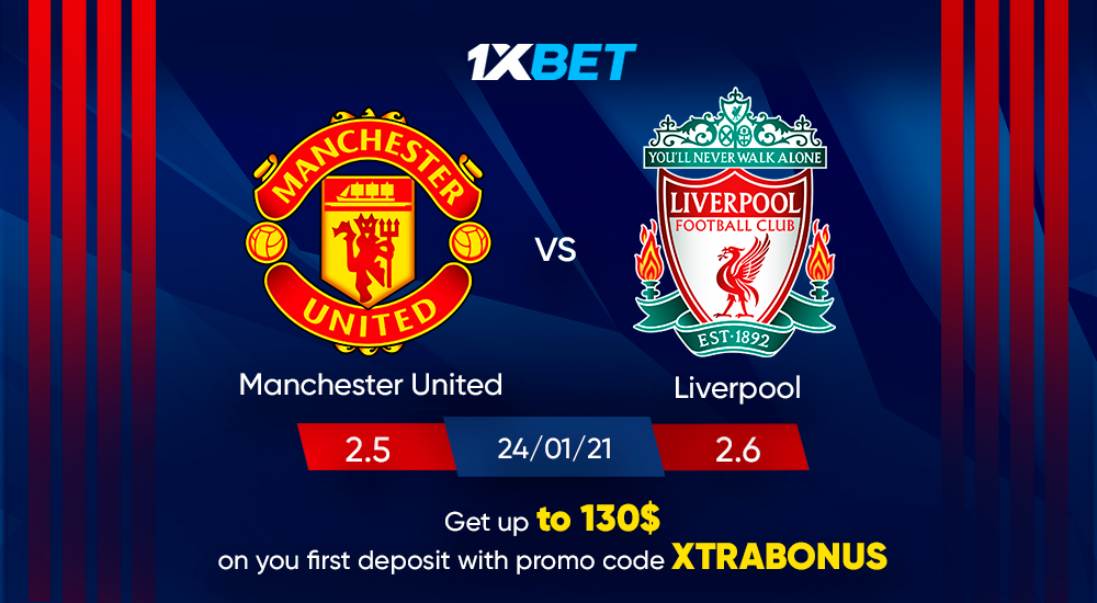 """Bitter rivals Manchester United and Liverpool will renew hostilities in the FA Cup fourth round this Sunday   Get up to 130$ on your first deposit! Use promo code """"XTRABONUS"""" at register  Place your bets!  https://t.co/FenAmbkhmW https://t.co/JRMwLVS4Pq"""