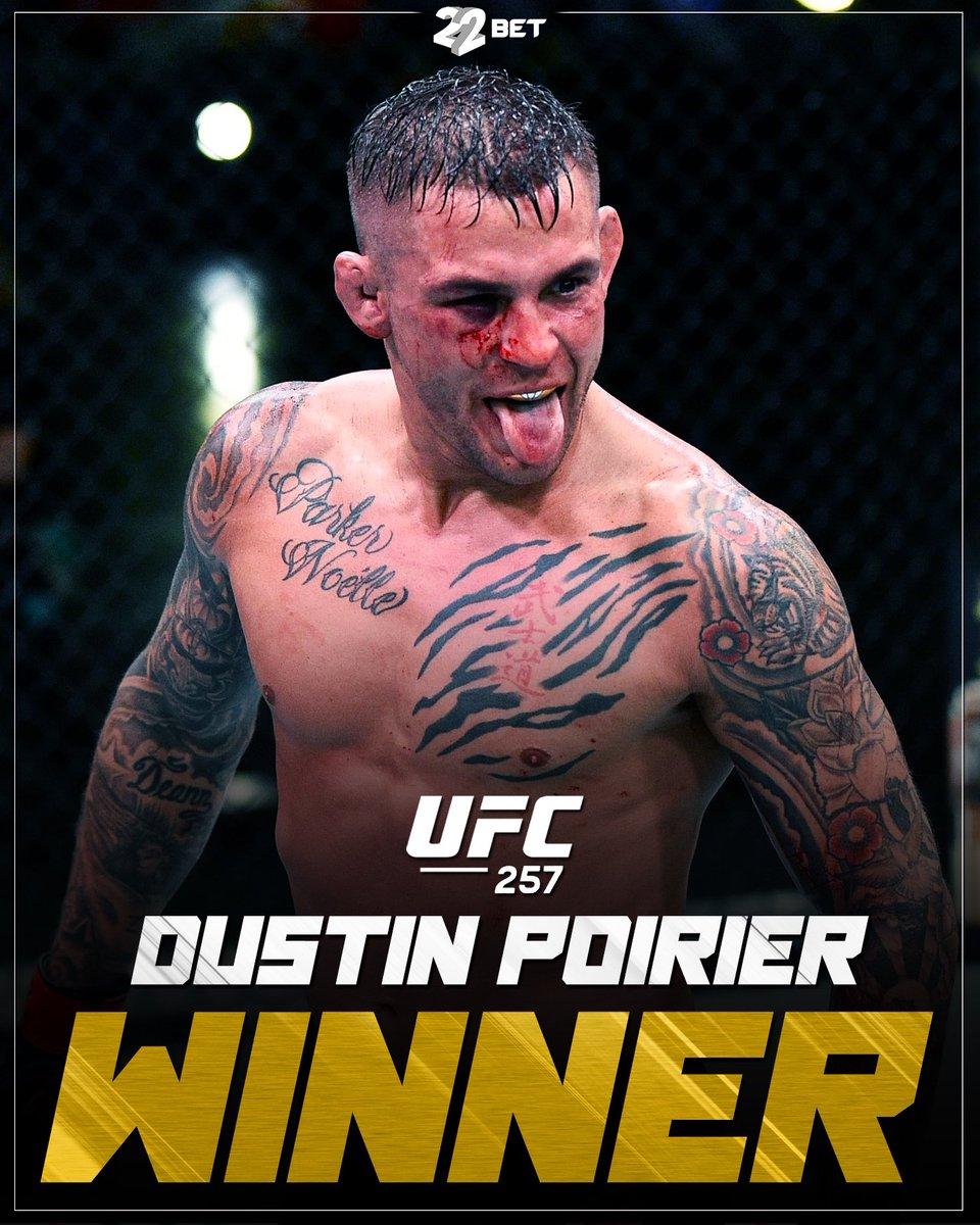UFC2️⃣5️⃣7️⃣WINNER✅ #ufc #dustinpoirier #mcgregor #winner #mma #fighter #22bet