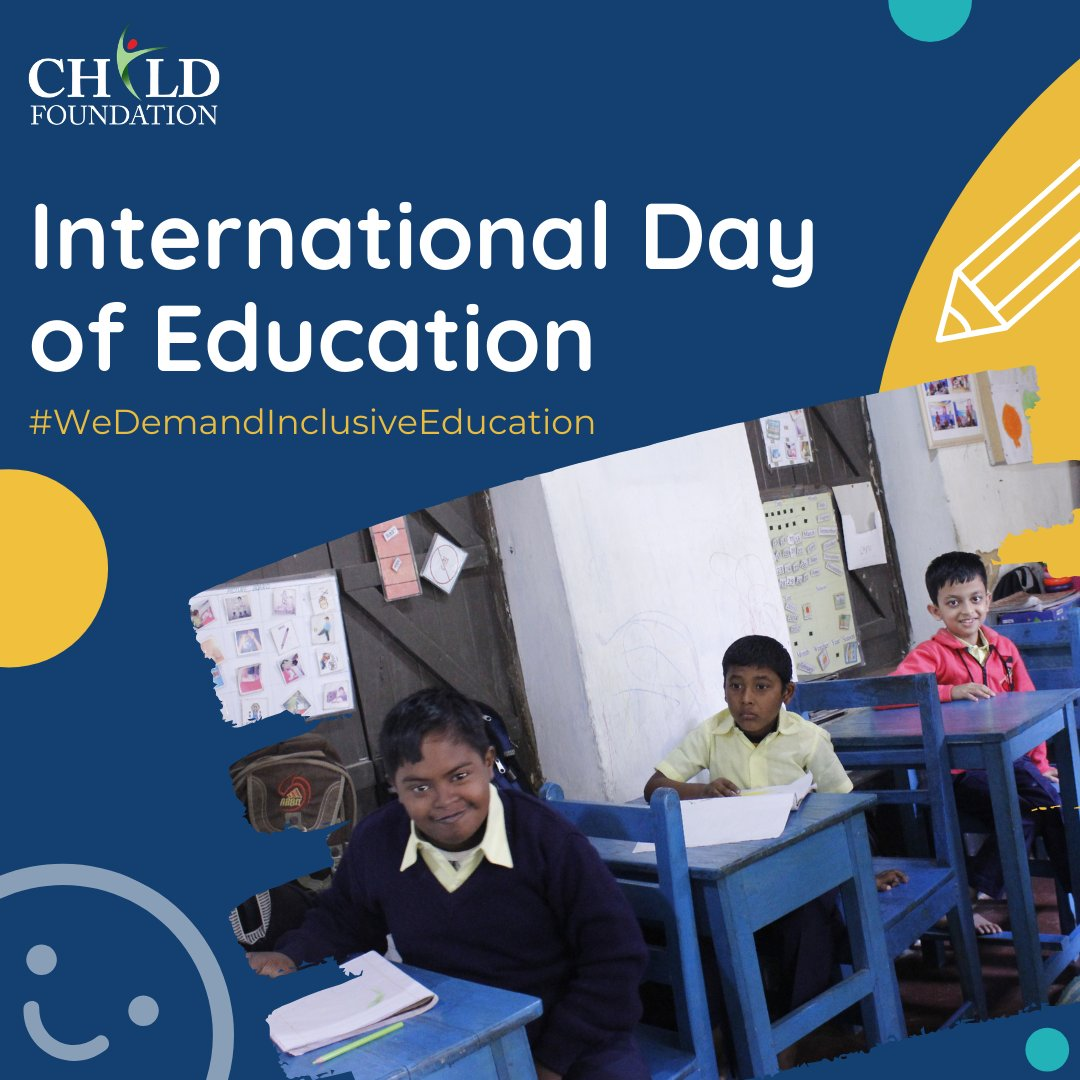 Today is International Day of Education  On this day, we demand Inclusive Education in all Institutions so that there's no differentiation or discrimination among the Students irrespective of Gender, Race, Class, Religion, or Ability!   #inclusiveeducation #intdayofeducation