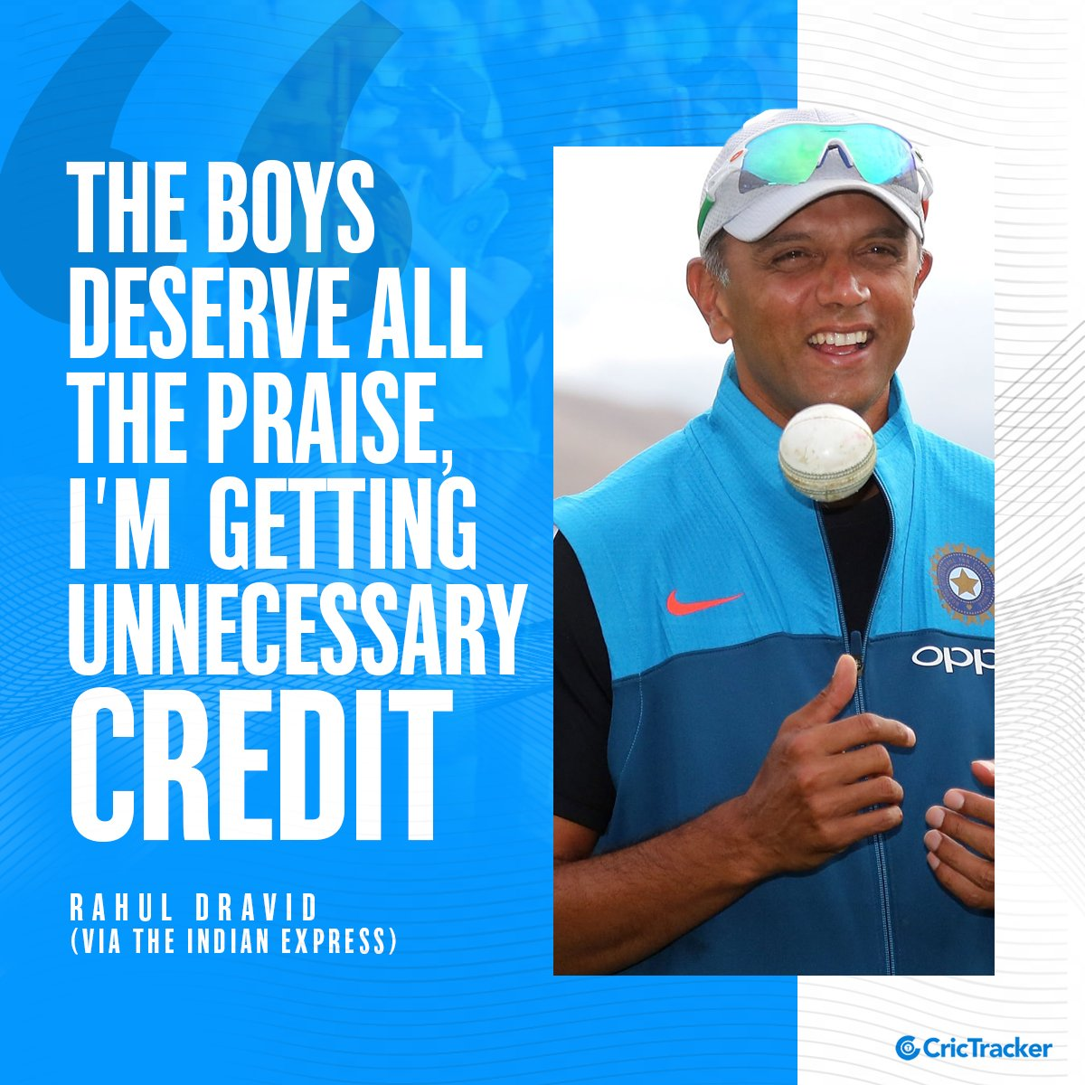 Why so selfless Rahul Dravid? ❤❤  #RahulDravid #India #AUSvsIND #Cricket #CricTracker