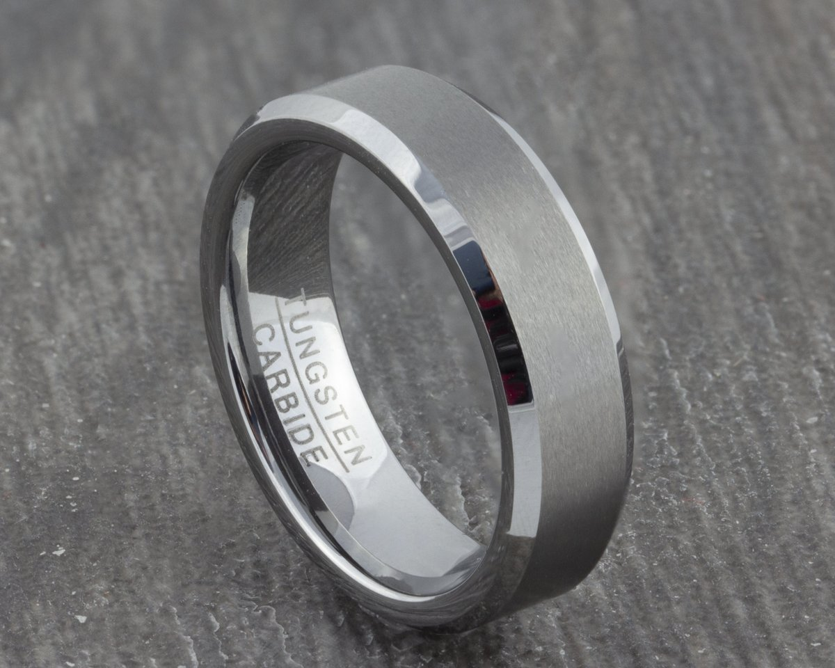 Excited to share the latest addition to my #etsy shop: 6mm Mens Silver Tungsten Ring - Silver Wedding Band - Womens Wedding Ring - Engagement Ring - Promise Ring - New - Men's Women's Ring  #silver #wedding #no #women #tungsten #weddingring #