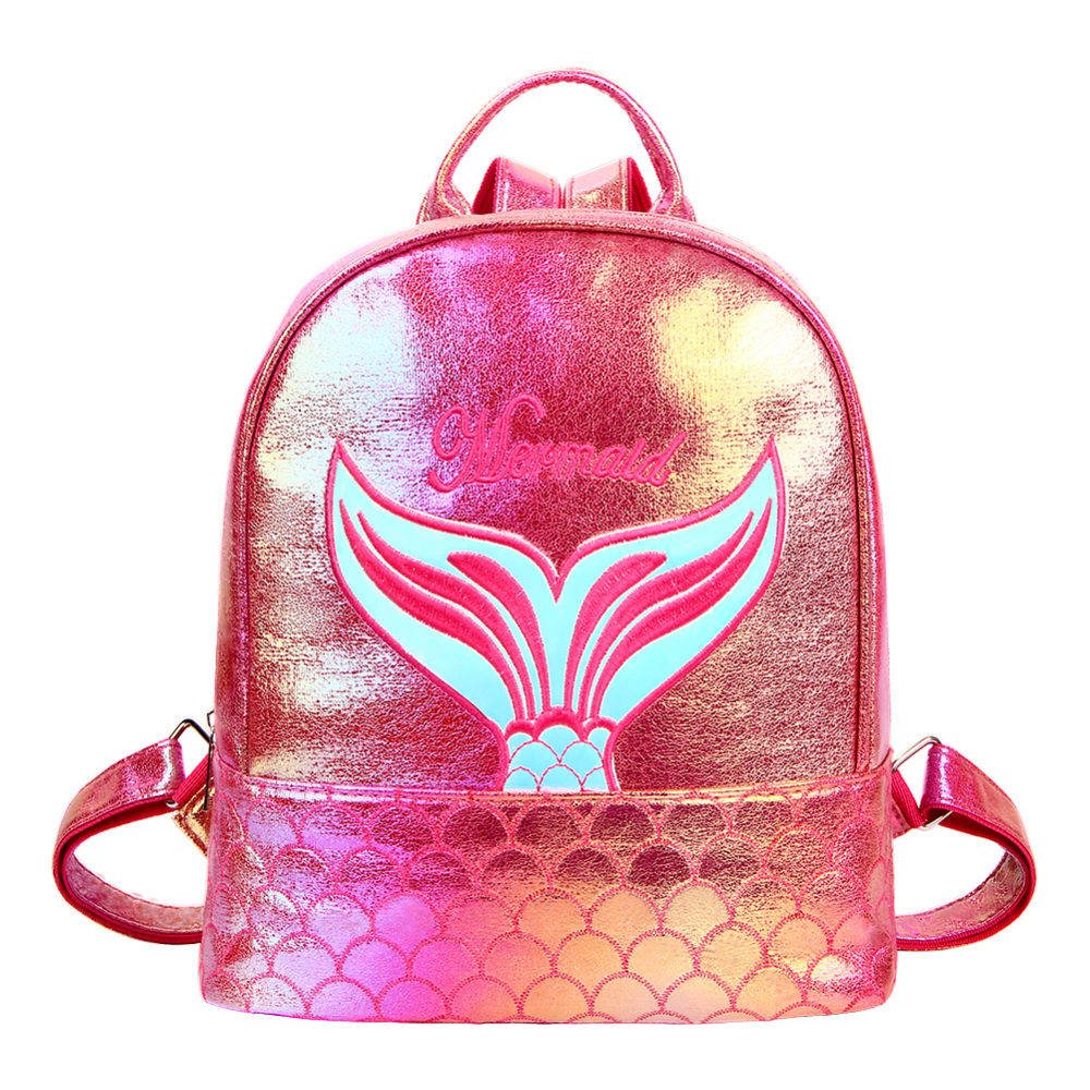 #camping #nature Mermaid Pattern Laser Backpack