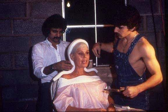 "#fridaythe13th #HorrorMovies #Flashback #fridaythe13th #makeupartist @THETomSavini #behindthescenes with Taso making A model of Betsy Palmer""s head for Friday the 13th."