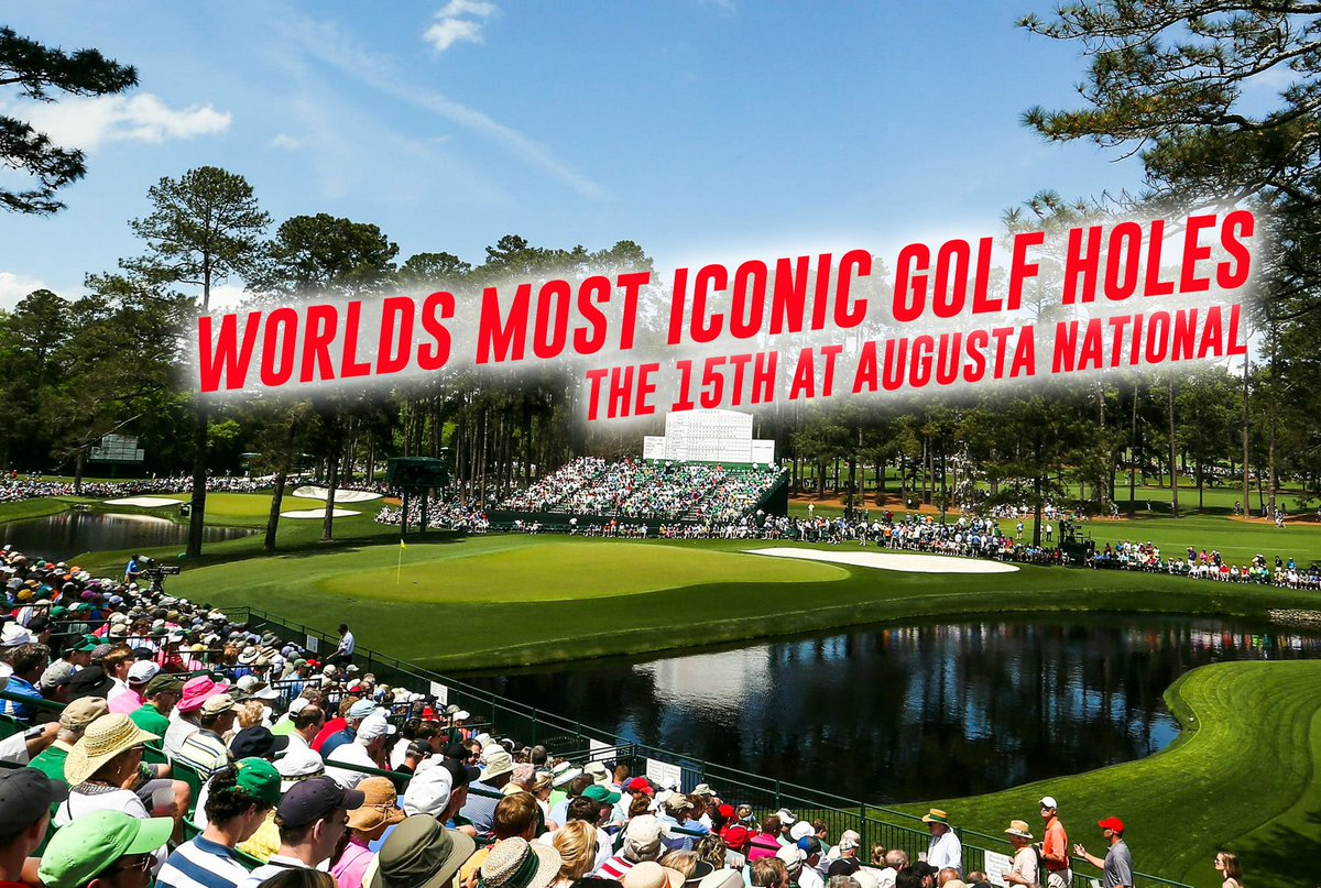WORLDS MOST ICONIC GOLF HOLES New video is up on my channel where I play the 15th at Augusta National off the championship Tees. A truly iconic par 5 where the Masters can be won or lost.    #Golf #golfer #golfswing #Augusta #themasters #golfcourse