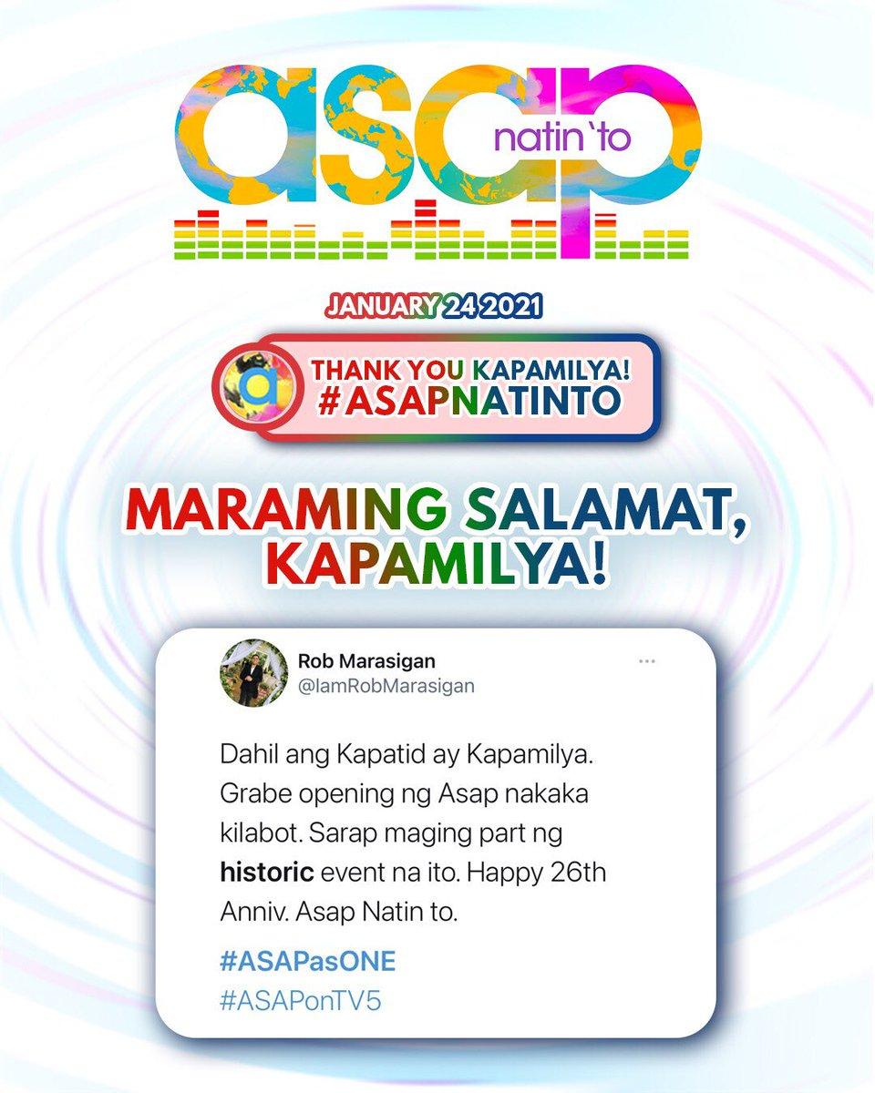 Mga Kapamilya, Mga Ka-A2Z at Mga Kapatid, salamat sa pag-sama sa Ultimate Celebration natin ngayong Linggo!  See you all again next week dito lang sa ASAP Natin 'To!     #ASAPasONE
