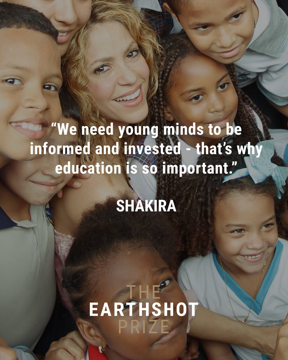 Education is key to supporting the global effort to protect and restore our planet.  Shakira, a Member of The Earthshot Prize Council, is particularly focused on how education can empower and inspire the next generation. #InternationalDayofEducation https://t.co/oPep2iRUN4