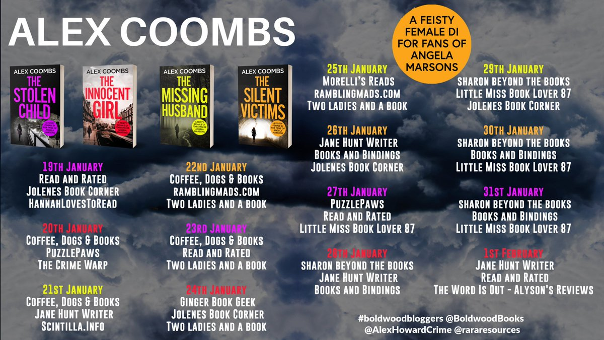 On the DI Hanlon Series by @AlexHowardCrime blog tour today we have @Ginger_bookgeek, @jojowelshghoul and twoladiesandabook. Thanks so much for taking part! 💐💛  DI Hanlon Series is available now ➡️    @rararesources @AlexHowardCrime #boldwoodbloggers