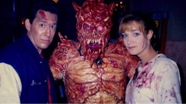 #actors #fridaythe13th #HorrorMovies #Flashback John LeMay and Kerri Keegan with an unused Demon Suit for #JasonVoorhees on Jason Goes to Hell.
