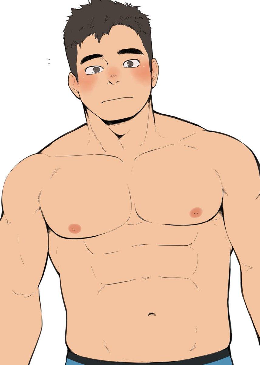 男の子の筋肉とか練習しようとしたら力尽きた