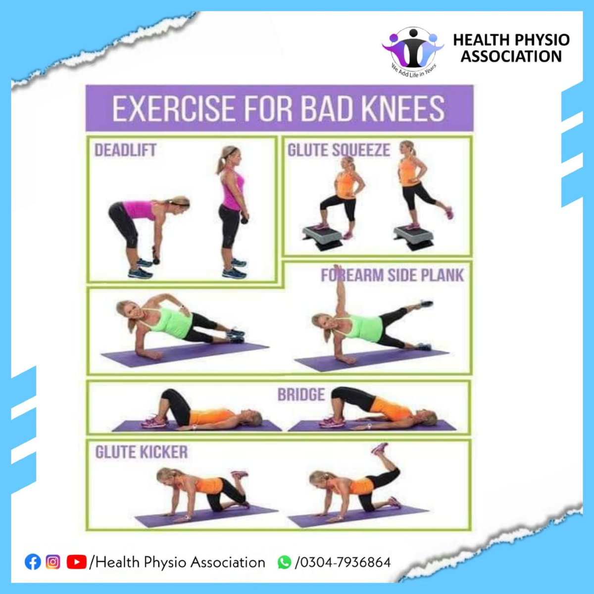 Learn with HPA 📚 ➖ Exercise for Bad knees ➖ If your knee's not at its best, start with a simple #strengthening exercise for your quadriceps, the #muscles in the front of the thigh. #kneepain #backpain #physicaltherapy #physiotherapy #painrelief #jointpain