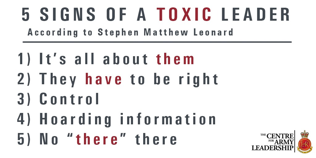 Never judge a book by it cover: 5 unmistakable signs of toxic leadership. I very insightful article from Clearance Jobs which very much resonates in the military.  Check it out 👀  #leadership #conscious #communication