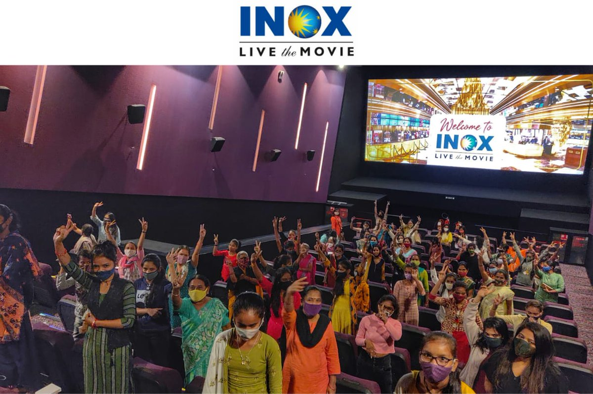 Mother's from @happyfacesvad NGO thoroughly enjoyed Madam Chief Minister at #INOX Vadodara today. Sponsored by @SPCineCorp   Now Showing at INOX! #MadamChiefMinister Book tickets:  @RichaChadha @TSeries @subkapoor @jollynarenkumar @dkh9 @KangraTalkies