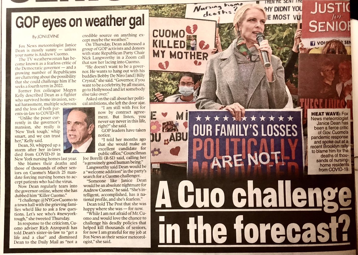 @JaniceDean  RunGirlRun, A Storm is coming!! 🌪💨 🇺🇸 #JaniceDeanForNYGov 🇺🇸  #SundayMorning☕️ #NYPost📰
