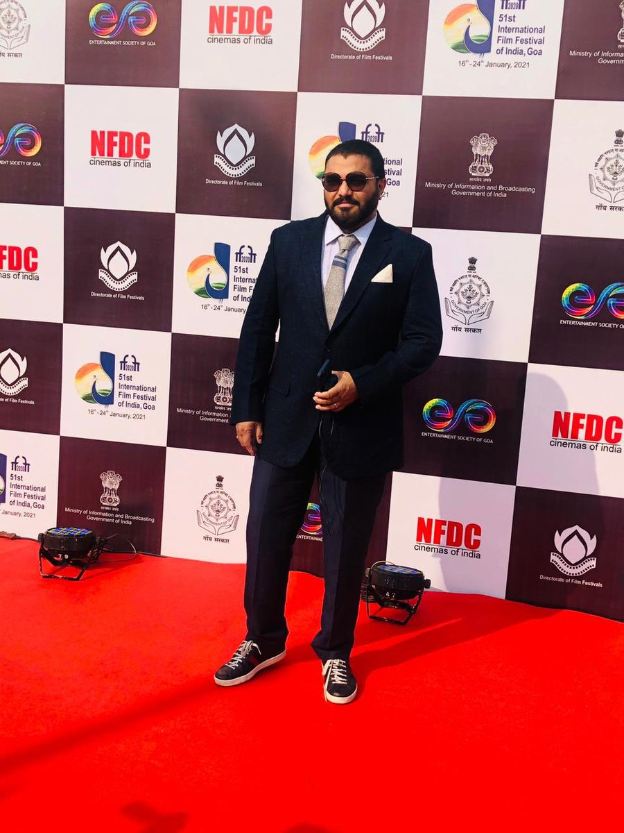 Minister of State For Environment, Forest And Climate Change Shri @SuPriyoBabul at The Red Carpet for The Closing Ceremony of #IFFI51.  @satija_amit @Chatty111Prasad @PIB_India @MIB_India