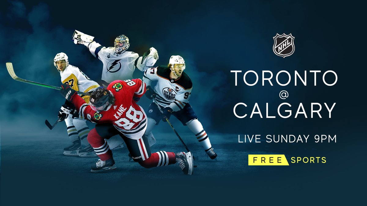 𝗟𝗜𝗩𝗘 𝗡𝗛𝗟 𝘁𝗼𝗻𝗶𝗴𝗵𝘁 🚨  🏒 Join us live from 9pm as we bring you a great NHL match-up between @MapleLeafs & @NHLFlames