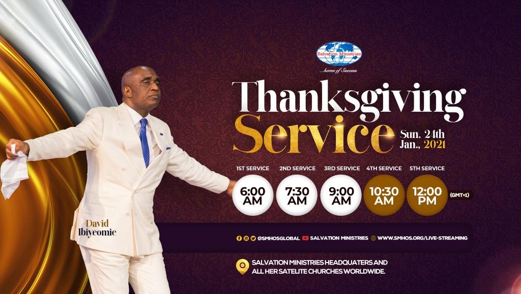 Join Us Today In Our 7 Seven Awesome Services As We Thank God For His Faithfulness During And After The 5NOG Seasons..  See You At The Glory Rain 2022.. #Manifestation2021  #5NOG2021  #DavidIbiyeomie  #Grateful  #Thanksgiving