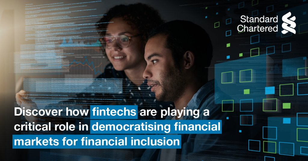 In Dec 2020, #StandardChartered convened a virtual conference on the Digital Transformation of Financial Markets, focusing on the importance of data to capital markets. Can fintechs help to democratise the ecosystem? Learn more:  #StanChart #HereForGood